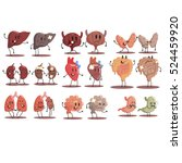 human internal organs healthy... | Shutterstock .eps vector #524459920