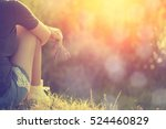 relaxing woman at nature in... | Shutterstock . vector #524460829