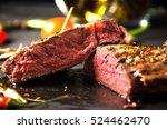 rare steak black rectangular... | Shutterstock . vector #524462470