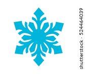 blue snowflake icon. winter... | Shutterstock .eps vector #524464039