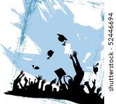 graduation party vector | Shutterstock .eps vector #52446694