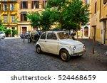 rome   september 23  retro fiat ... | Shutterstock . vector #524468659