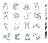 christmas and new year thin... | Shutterstock .eps vector #524470078