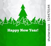 christmas green background.... | Shutterstock .eps vector #524470144