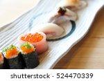 japanese amberjack sushi  ... | Shutterstock . vector #524470339
