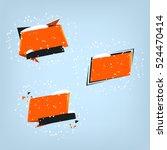 winter sale banner design. sale ... | Shutterstock .eps vector #524470414