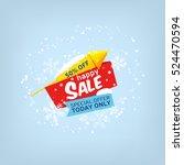 vector banner for happy sale | Shutterstock .eps vector #524470594