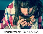 sick young woman with fever... | Shutterstock . vector #524472364