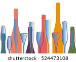 cocktail party vector.alcoholic ... | Shutterstock .eps vector #524473108