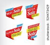 super sale  mega sale  weekend...   Shutterstock .eps vector #524473429