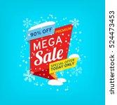 vector banner for mega sale | Shutterstock .eps vector #524473453