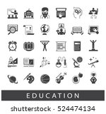 collection of educational icons.... | Shutterstock .eps vector #524474134