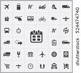 schedule icon. delivery icons... | Shutterstock .eps vector #524474740