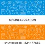 line design concept web banner... | Shutterstock .eps vector #524477683