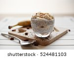 banana chia yogurt pudding... | Shutterstock . vector #524481103