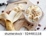 banana chia yogurt pudding... | Shutterstock . vector #524481118