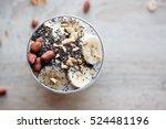 banana chia yogurt pudding...   Shutterstock . vector #524481196