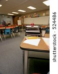 view from the teachers desk who ... | Shutterstock . vector #524486