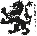 heraldry weapon lion with... | Shutterstock .eps vector #524490559