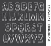 outline typeset on black... | Shutterstock .eps vector #524493433