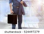 businessman meeting with... | Shutterstock . vector #524497279
