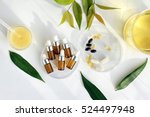 natural essential oil  cosmetic ...   Shutterstock . vector #524497948