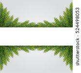 christmas background with fir...   Shutterstock .eps vector #524498053