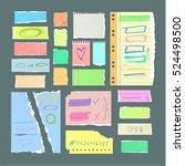 scrapbook sheet. handmade torn... | Shutterstock .eps vector #524498500