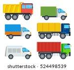 trucks cartoon models. lorry ... | Shutterstock .eps vector #524498539
