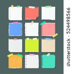 paper banners for notes. pieces ... | Shutterstock .eps vector #524498566