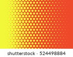 yellow dots on red background... | Shutterstock .eps vector #524498884
