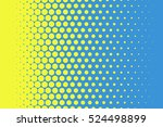 yellow dots on blue background... | Shutterstock .eps vector #524498899