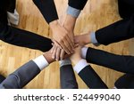 hand together group office... | Shutterstock . vector #524499040