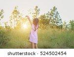 adorable little girl laughing... | Shutterstock . vector #524502454