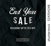 end year sale with texture of... | Shutterstock .eps vector #524504248