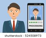 biometric identification.... | Shutterstock .eps vector #524508973