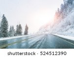 Scenic View Of Empty Road With...