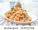 tasty risotto with shrimp ... | Shutterstock . vector #524515768