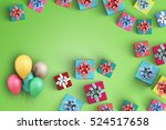 happy birthday and gift box on... | Shutterstock . vector #524517658