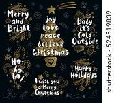 merry christmas. happy new in... | Shutterstock .eps vector #524519839