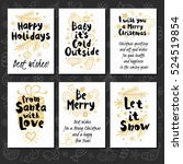 merry christmas. happy new in... | Shutterstock .eps vector #524519854