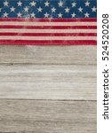 usa patriotic old flag on a... | Shutterstock . vector #524520208