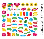 web stickers  banners and... | Shutterstock .eps vector #524520814
