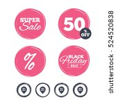 super sale and black friday... | Shutterstock .eps vector #524520838