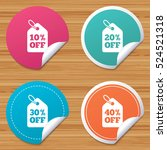 round stickers or website... | Shutterstock .eps vector #524521318