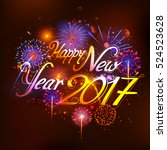 illustration of happy new year... | Shutterstock .eps vector #524523628