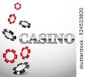 falling casino chips background ... | Shutterstock .eps vector #524523820