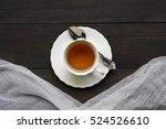 closeup of cup of tea.flat lay...   Shutterstock . vector #524526610