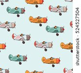 airplane vintage. pattern with...