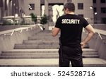 male security guard  outdoor | Shutterstock . vector #524528716